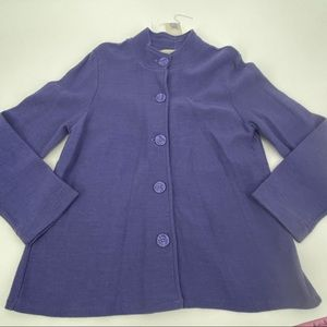 Appleseed's wool button swing jacket sz large